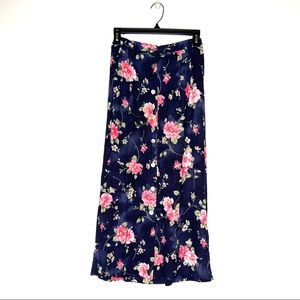 Vintage Jaclyn Smith Floral Button Midi Skirt S